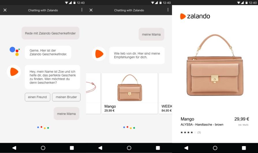 Zalando  Commerce conversationnel   Zalando lance un guide cadeaux ... da9c85f0296