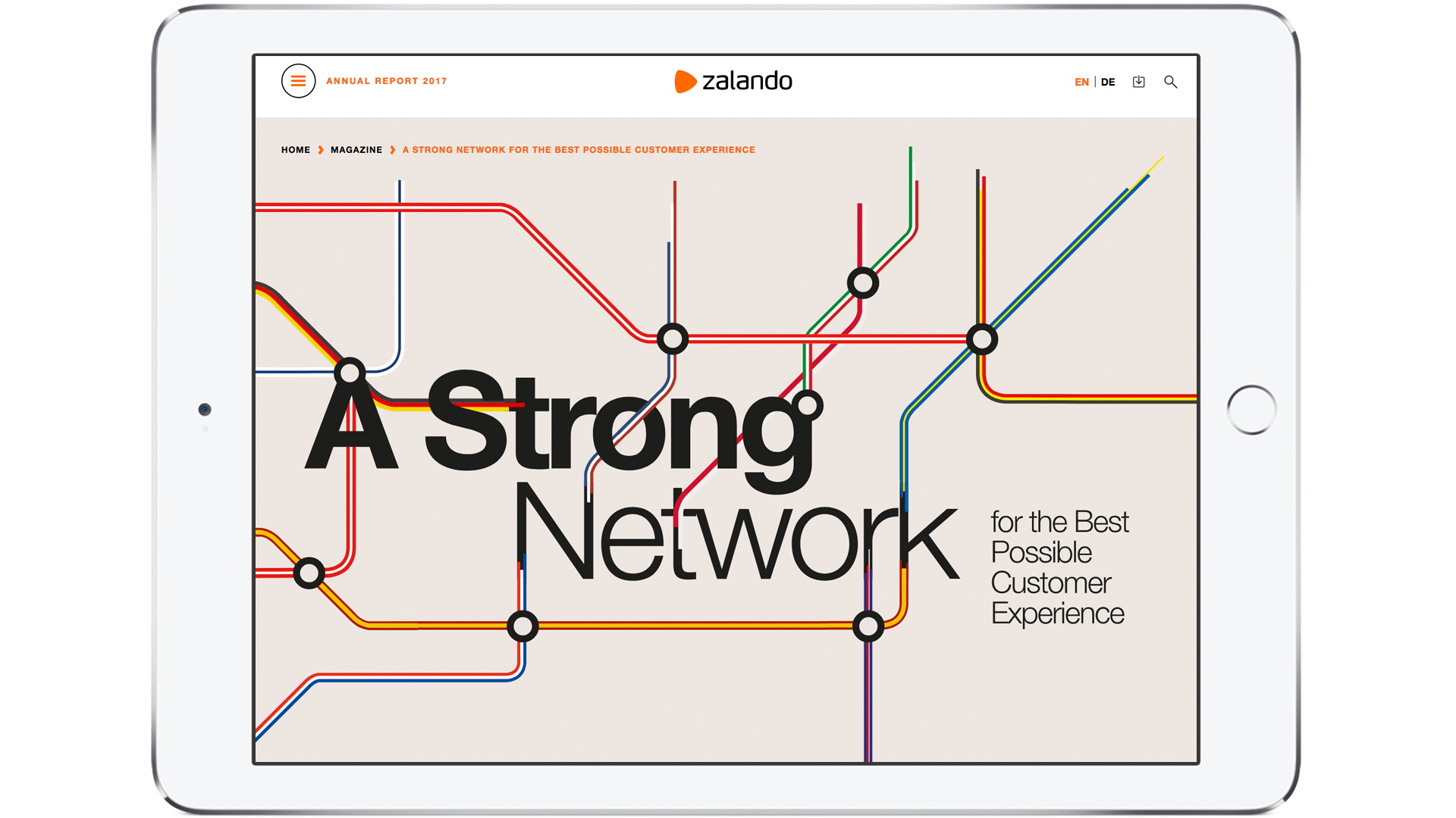 Zalando SE Newsroom Stories AR Strong Network