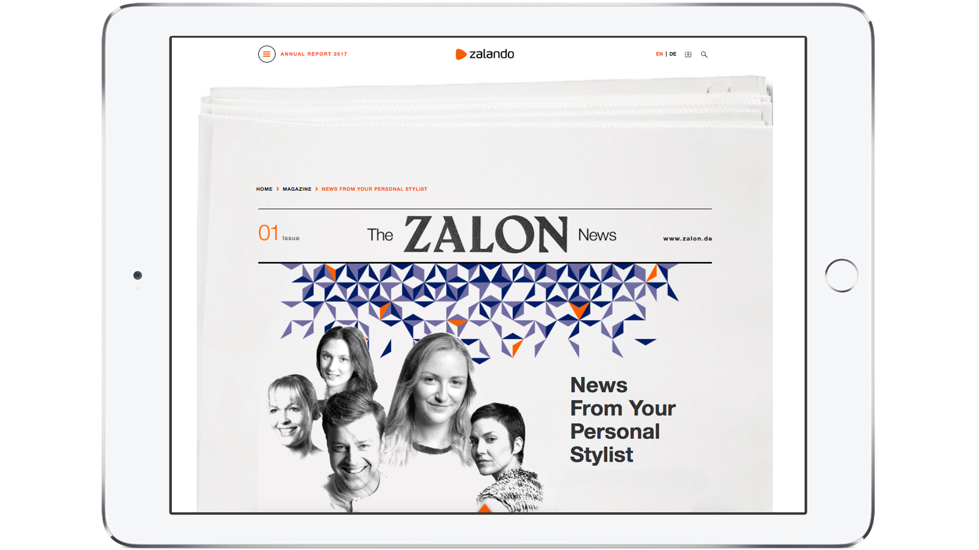 Zalando SE Stories Newsroom AR Teaser Zalon EN