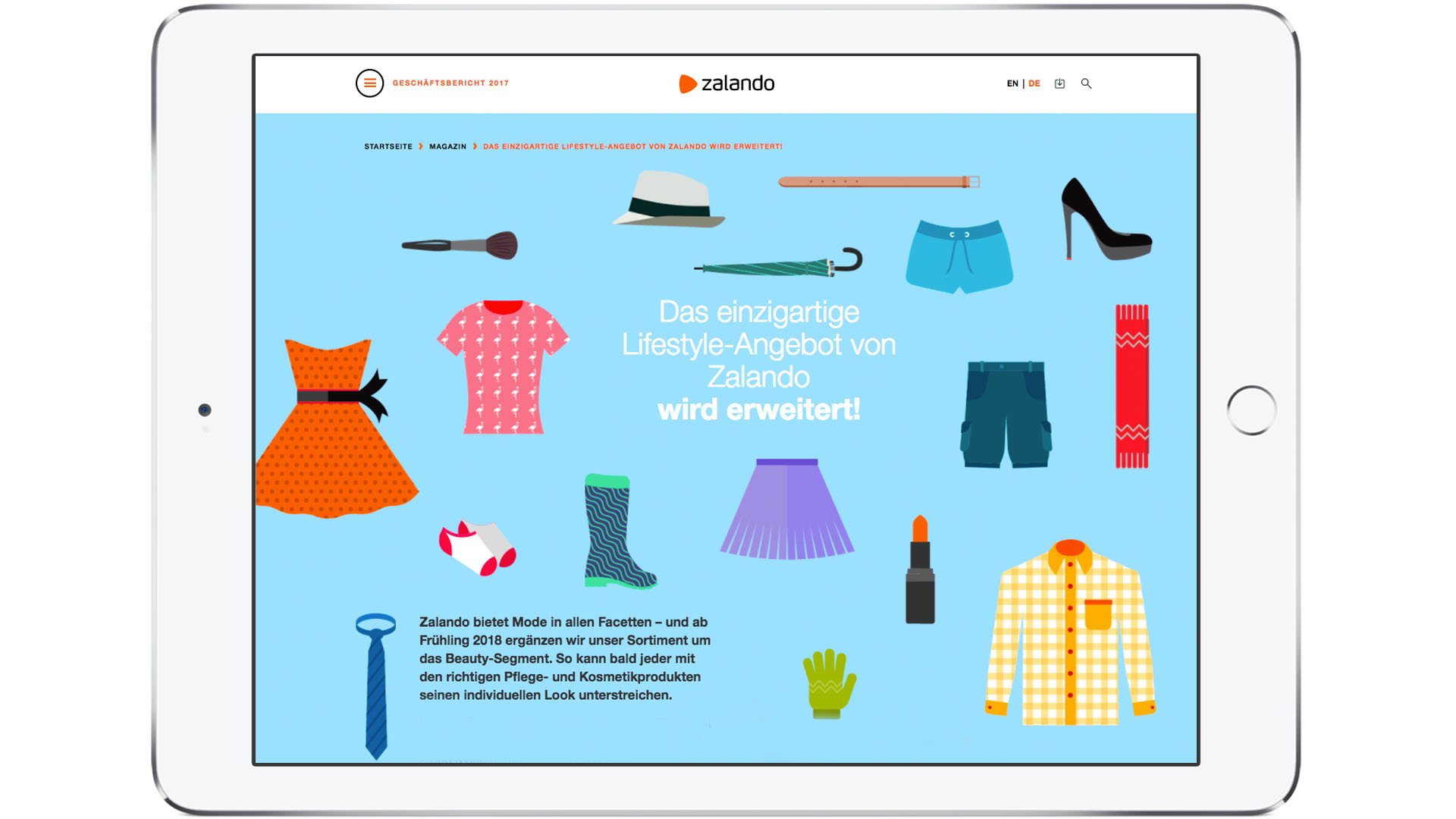 Zalando SE Newsroom Storys Teaser GB Sortiment