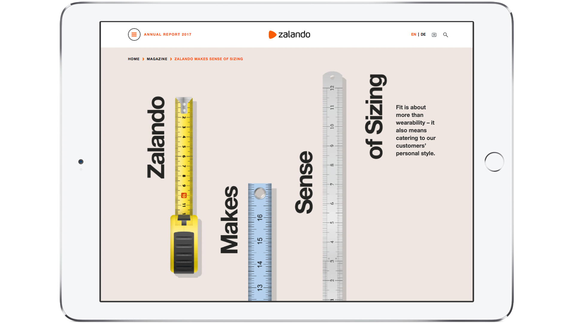 Zalando SE Newsroom Stories AR Sizing