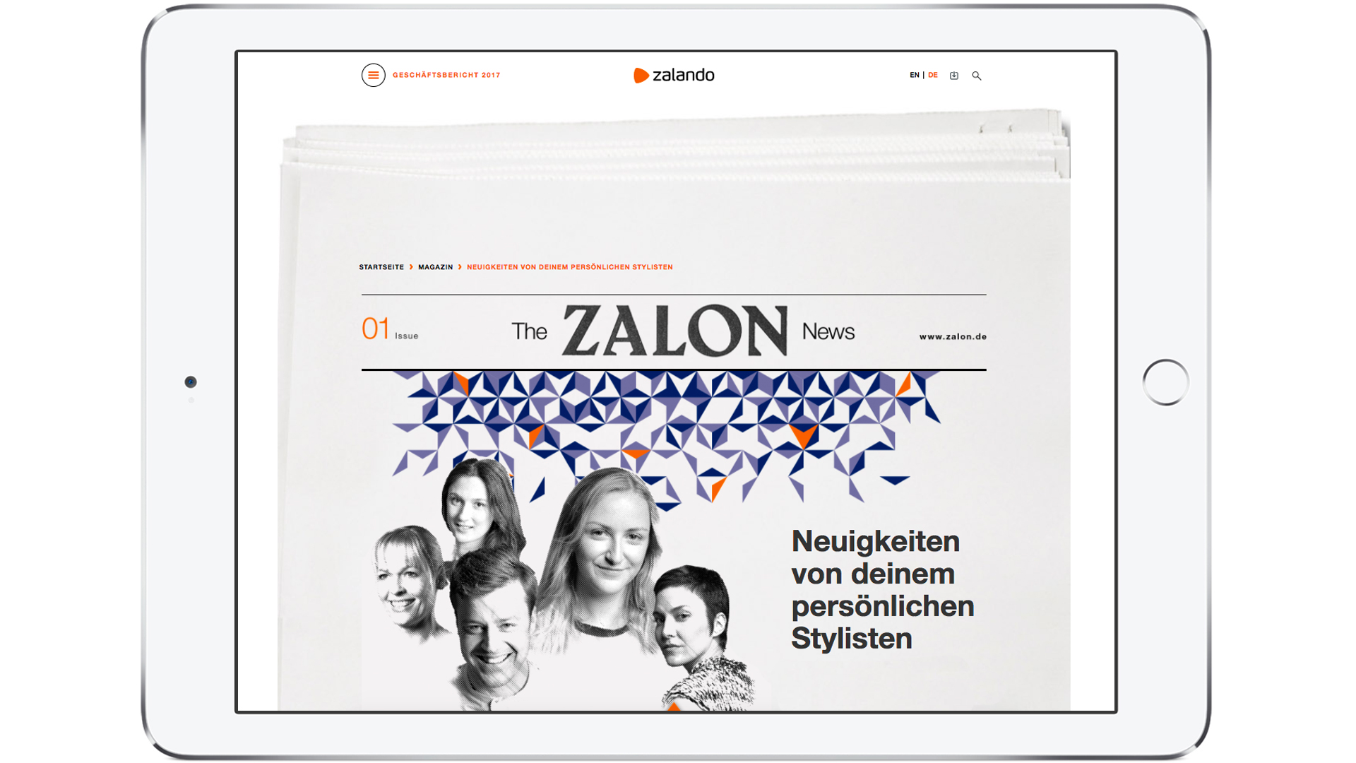 Zalando SE Stories Newsroom AR Teaser Zalon