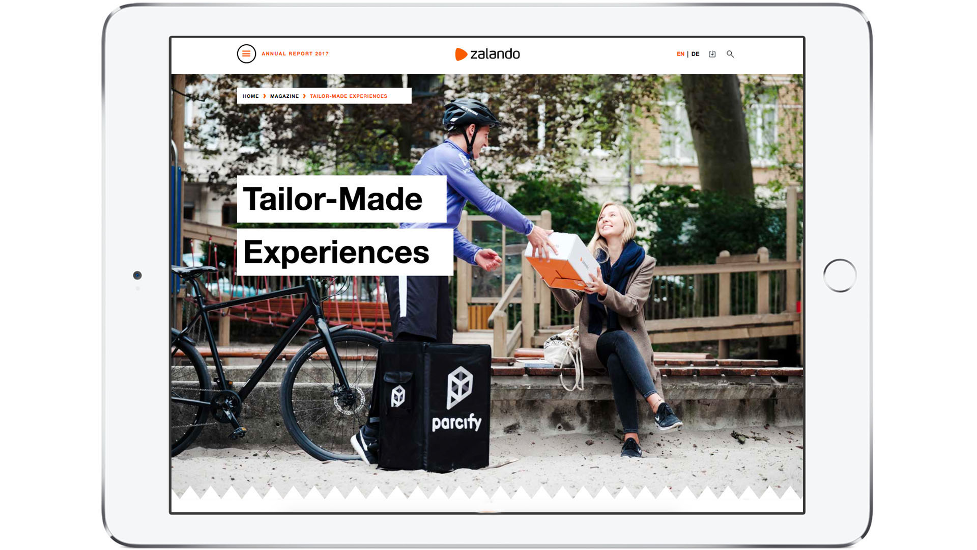 Zalando SE Annual Report 2017: Delivery