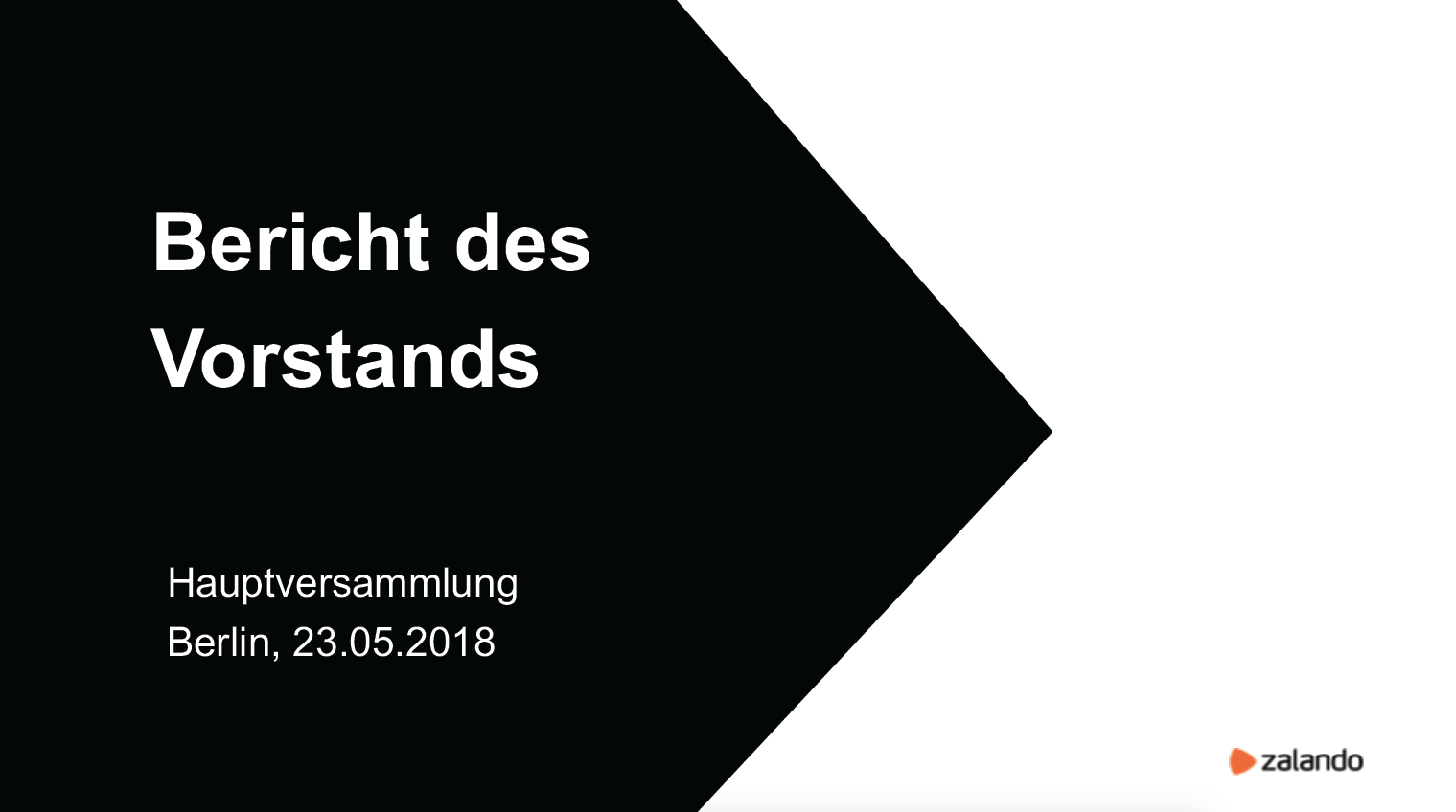 Zalando: Hauptversammlung 2018 | Zalando Corporate
